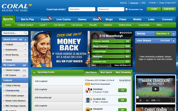 coral betting online