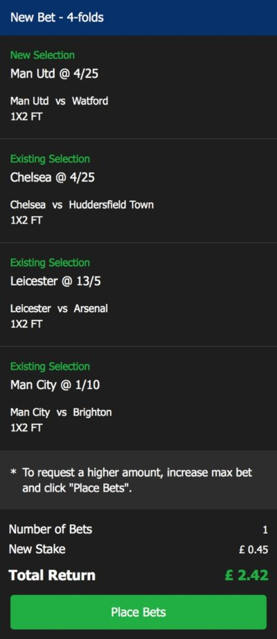 10 Bet Add to Bet