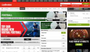 Ladbrokes Football Betting Screenshot